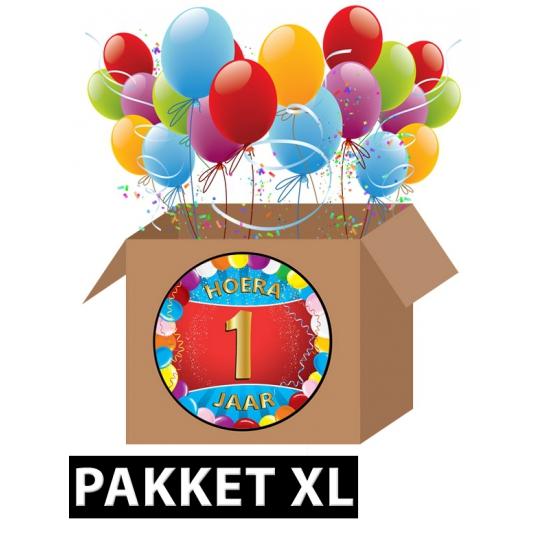 Zoekies.com - 1 jaar feest versiering voordeelbox XL | 10063536