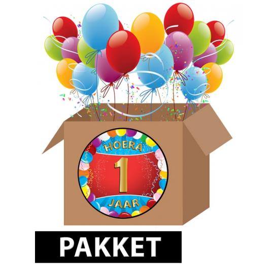 Zoekies.com - 1 jaar feest versiering voordeelbox | 10063388