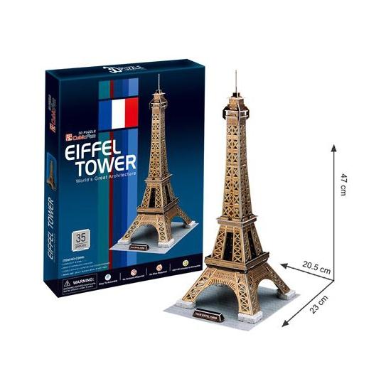 3d puzzel eiffeltoren. 45 delige 3d puzzel van de eiffeltoren. duurzame kwaliteit van polypropyleen foam, dus ...