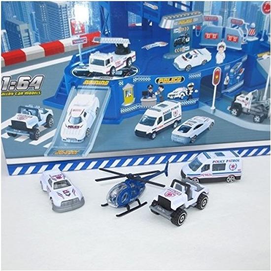 Speelgarage met politie autos