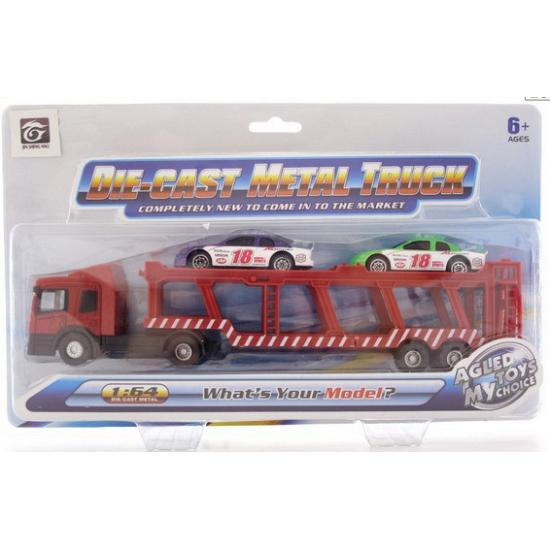 Speelgoed auto transporter met 2 autos