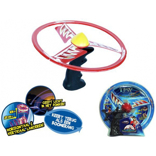 Speelgoed ufo om te laten vliegen