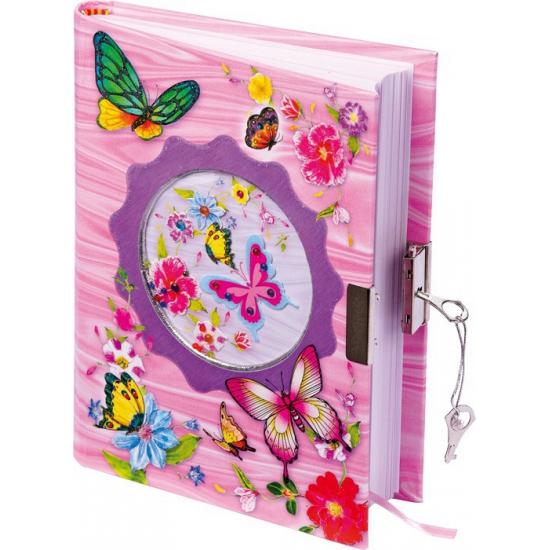 Vlinder dagboek met slot