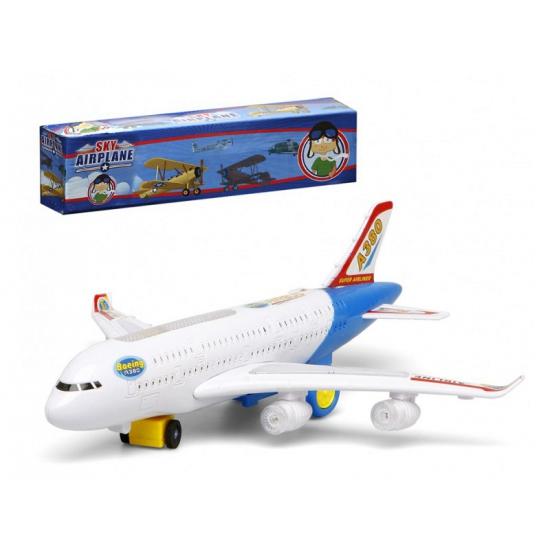 Wit Speelgoed Passagiersvliegtuig Met Licht En Geluid Speelgoedpostorder kopen