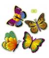 4 decoratie vlinders 34 cm