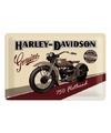 750 Flathead Harley muurposter van metaal