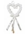 Bruiloft roosjes hart wit
