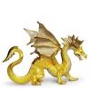 Decoratie draak goud 17 cm