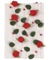 Decoratie rozen slinger rood 2 meter