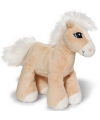 Licht bruin knuffel paardje 15 cm
