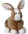 Knuffel konijn bruin met wit 16 cm