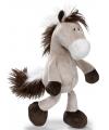 Grijze knuffel paard 35 cm