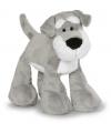 Staande Schnauzer honden knuffel 15 cm