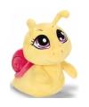 Pluche knuffel slak geel 15 cm