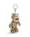 Pluche sleutelhangers tijger 10 cm