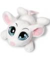 Speelgoed knuffel muis wit 25 cm