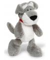 Grijze Schnauzer hond knuffel 25 cm