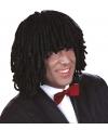 Zwarte dreadlock pruik heren