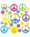 Sixties hippie decoratie 42 delig