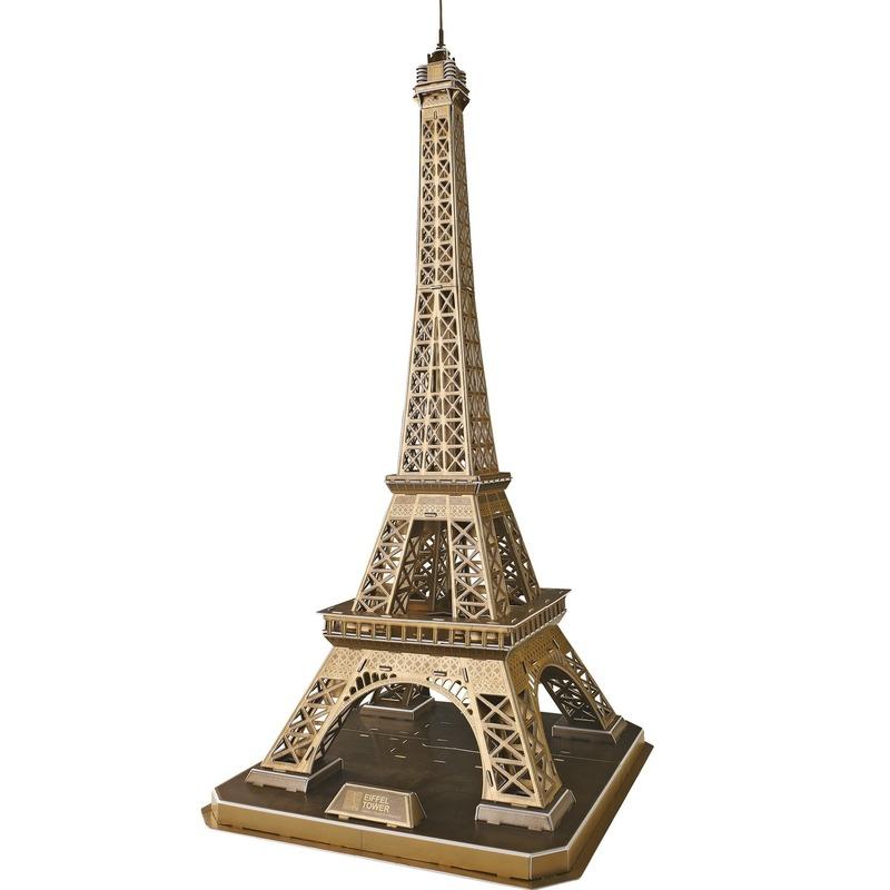 Bronzen 3d puzzel eiffeltoren. prachtige eiffeltoren die opgebouwd kan worden uit 82 deeltjes is gemaakt van ...