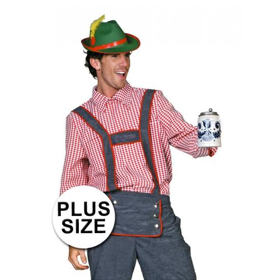 Big Size Tiroler Blouse Voor Heren