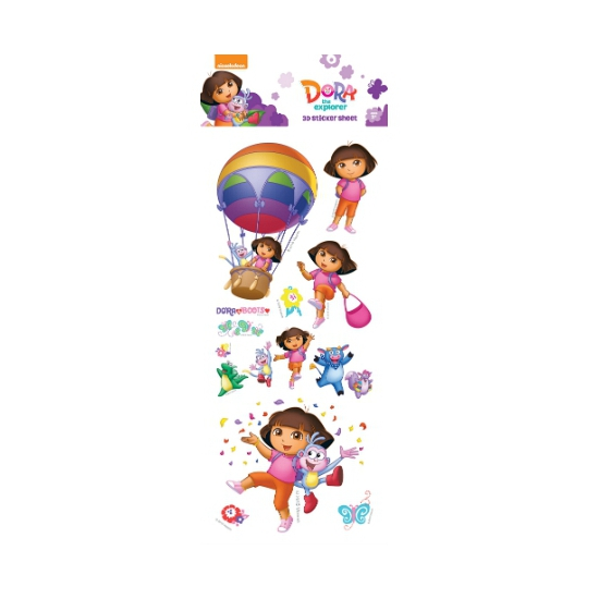 Dora 3d Stickervelletje