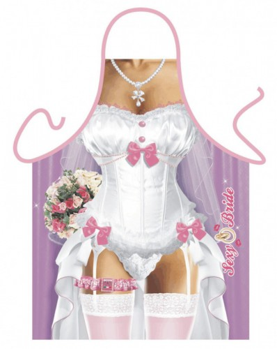 Funartikel schort Sexy Bruid
