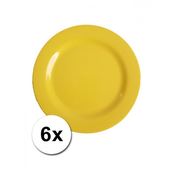 Gele Picknick Bordjes 6 Stuks 20 Cm
