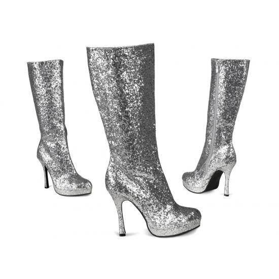 Glitter Laarzen Zilver
