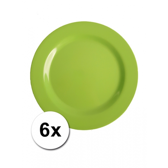 Groene Picknick Bordjes 6 Stuks 20 Cm