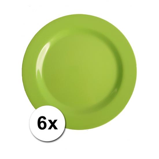 Groene Picknick Bordjes 6 Stuks 25 Cm