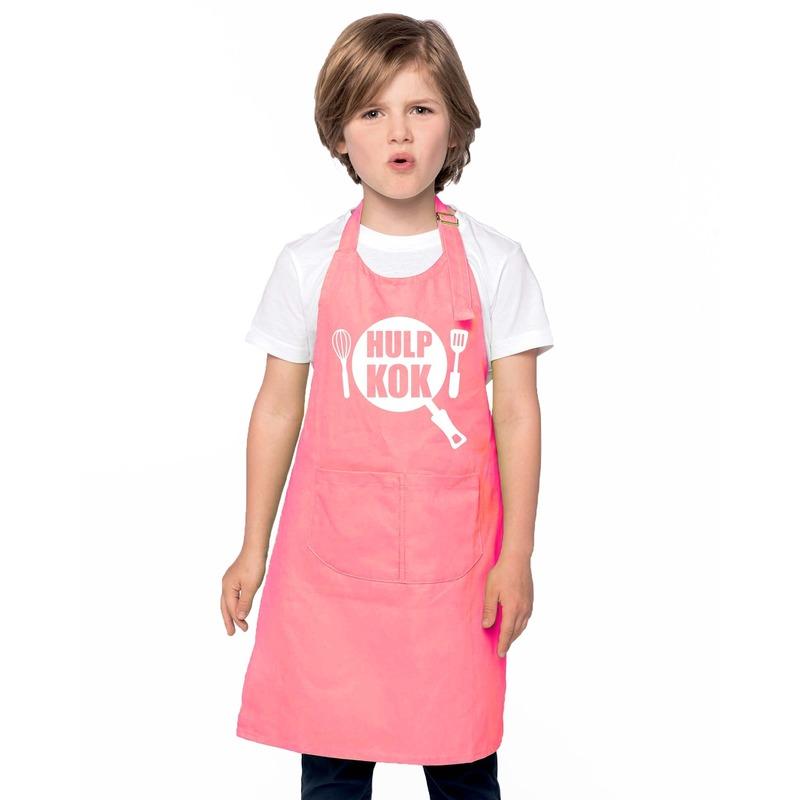 Hulpkok kinderschort roze jongens en meisjes