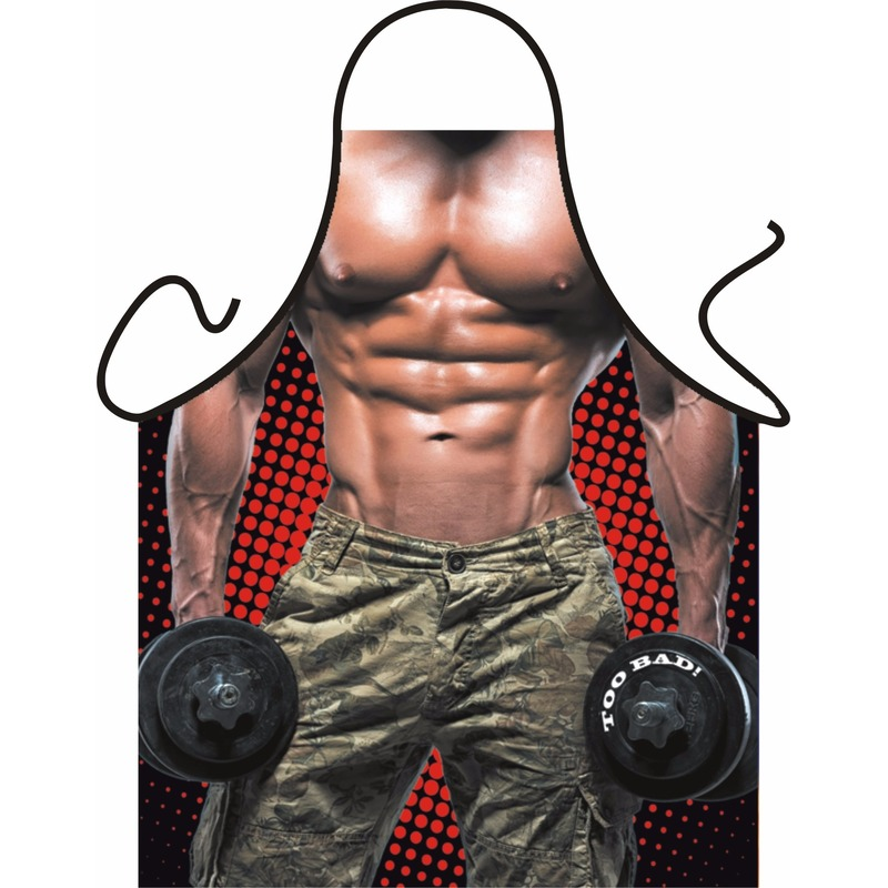 Kado artikelen schort Bodybuilder