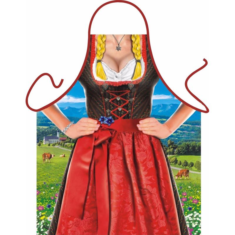 Kado artikelen schort Tiroler vrouw