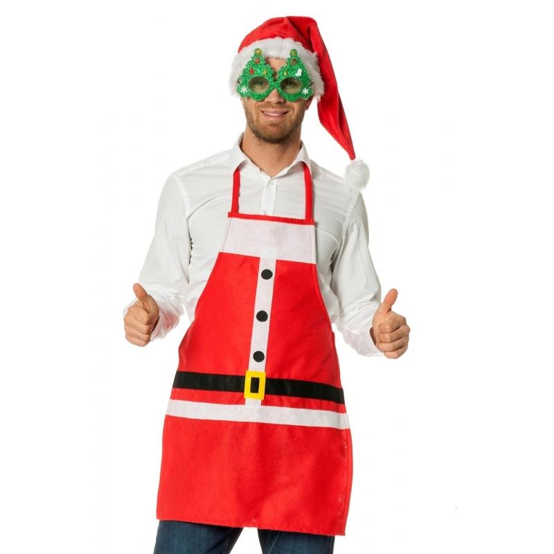 Kerstman verkleedkleding schort
