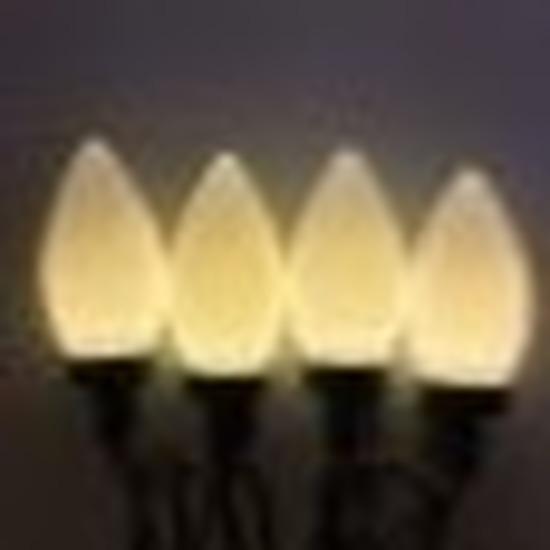 Kerstverlichting kaarsjes warm wit buiten 500 cm lichtsnoer