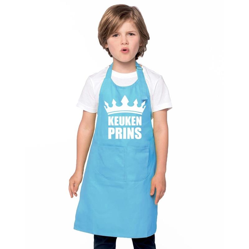 Keukenprins kinderschort blauw jongens