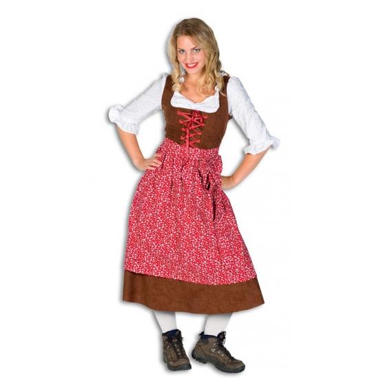 Lange Luxe Tiroler Outfit Vrouwen