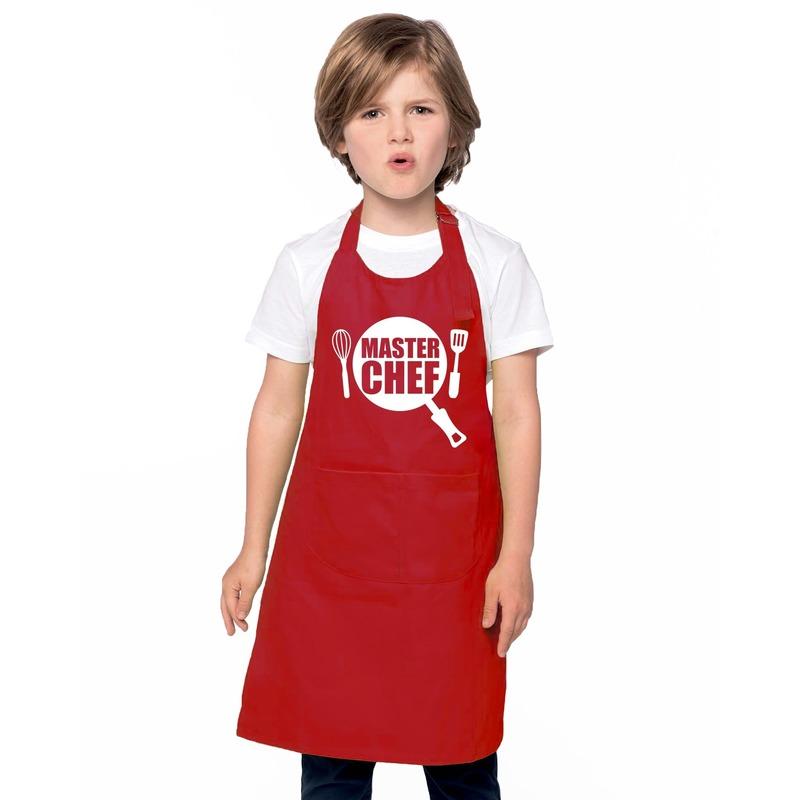Master chef kinderschort rood jongens en meisjes