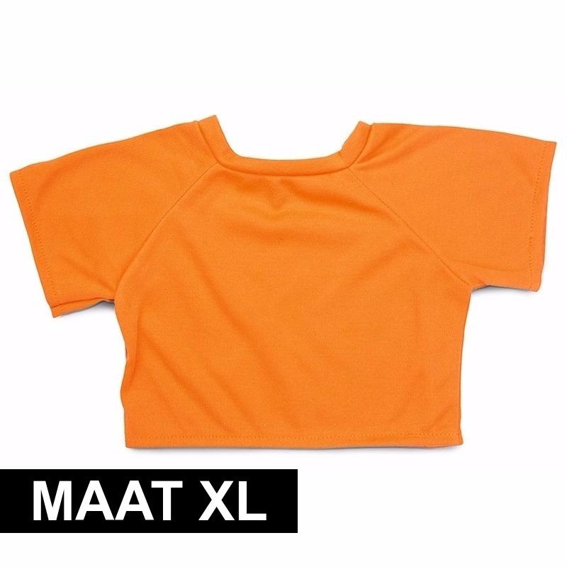 Oranje Clothies Knuffel Shirtje Xl Met Ruimte Voor Boodschap