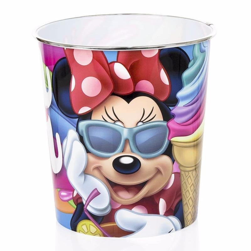 Prullenbakken Van Minnie Mouse Gekleurd