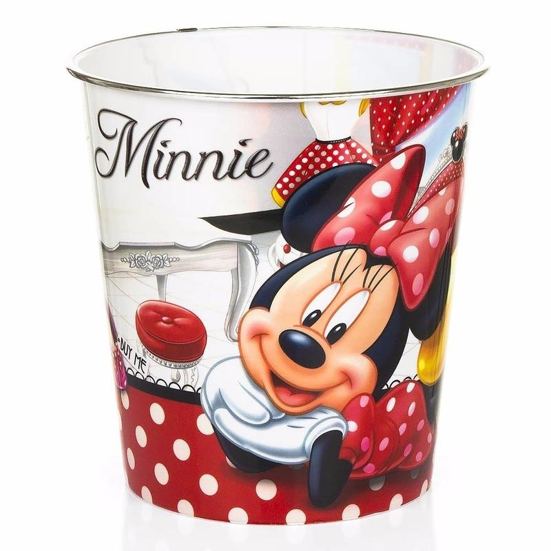 Prullenbakken Van Minnie Mouse Wit/rood