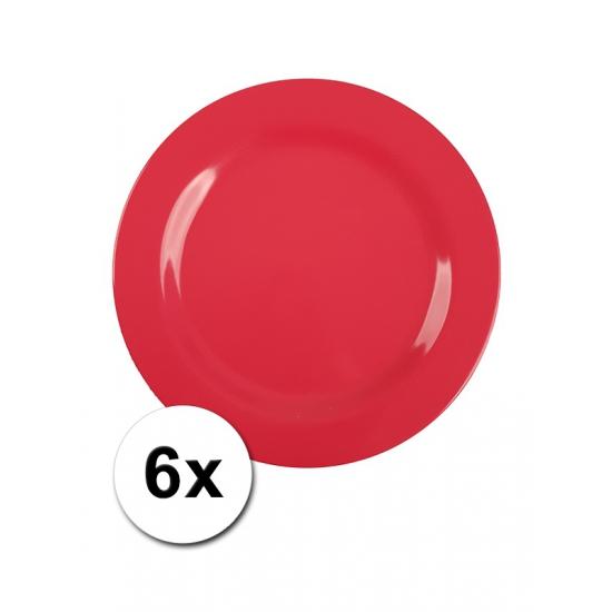 Rode Picknick Bordjes 6 Stuks 20 Cm
