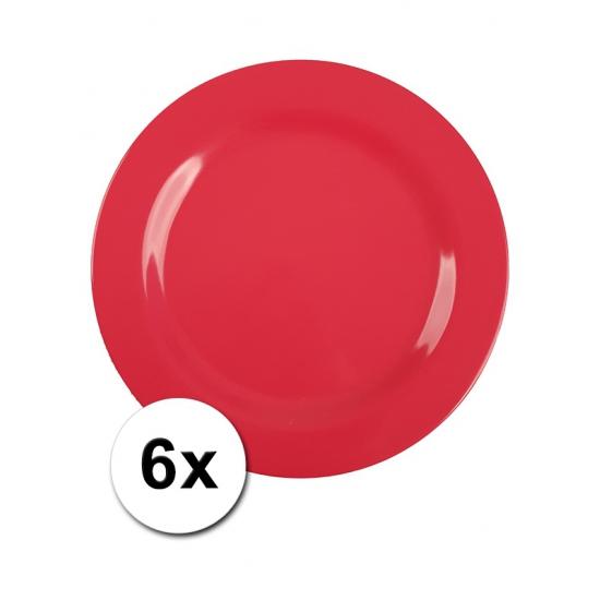 Rode Picknick Bordjes 6 Stuks 25 Cm