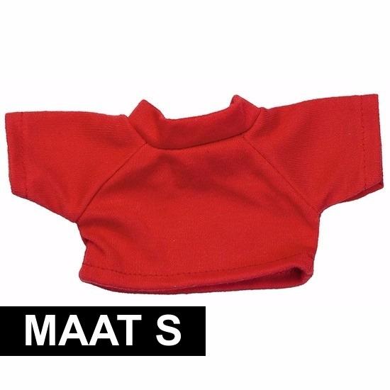 Rood Clothies Knuffel Shirtje S Met Ruimte Voor Boodschap