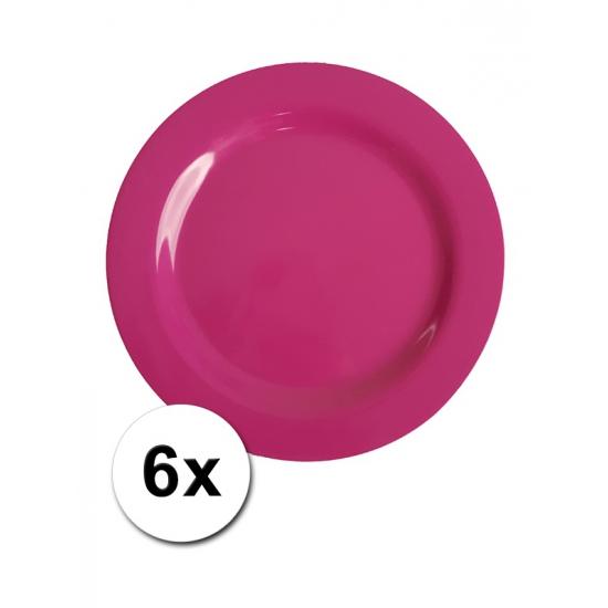 Roze Picknick Bordjes 6 Stuks 20 Cm