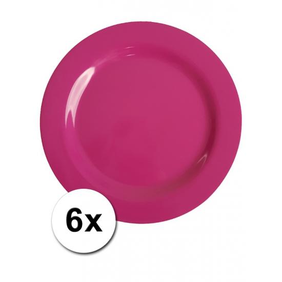 Roze Picknick Bordjes 6 Stuks 25 Cm