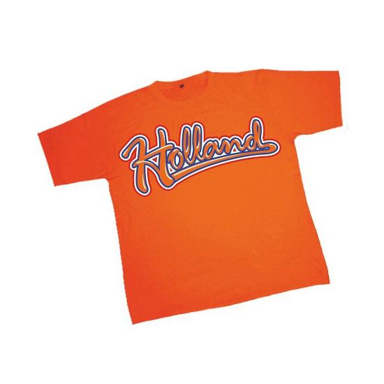 T-shirt Oranje Met Holland Opdruk