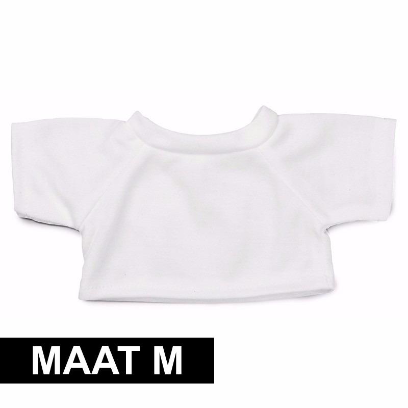 Wit Clothies Knuffel Shirtje M Met Ruimte Voor Boodschap