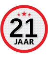 Stopbord sticker 21 jaar